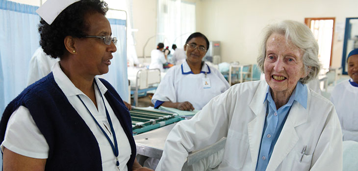 Dr Catherine Hamlin at the Addis Ababa Fistula Hospital
